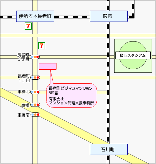 横浜事務所地図