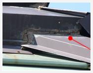 屋根シーリング材の経年劣化