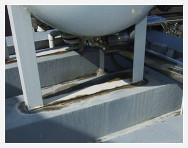 高架水槽ベースプレートのサビ