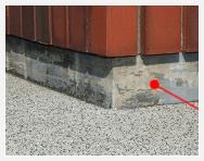 巾木のウレタン塗膜防水劣化
