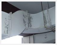 天井ダクト塗膜の剥離